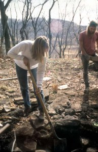 Excavations at the Martz Rock Shelter in 1994.