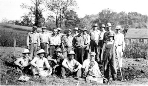 Field crew at the Montague site
