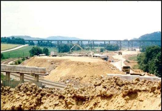 Meyersdale Bypass under construction.